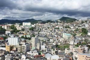 Nagasaki vu des jardins