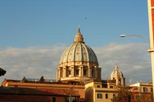 Vue sur le dôme du Vatican